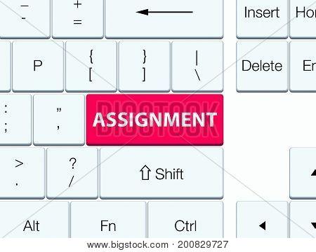 Assignment Pink Keyboard Button