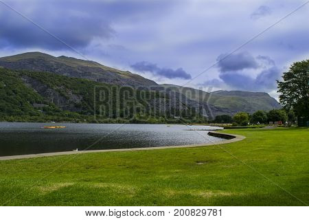 Snowdonia National Park and mount Snowdon , Wales