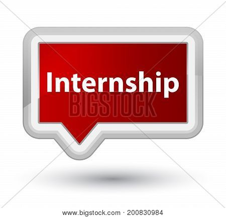 Internship Prime Red Banner Button