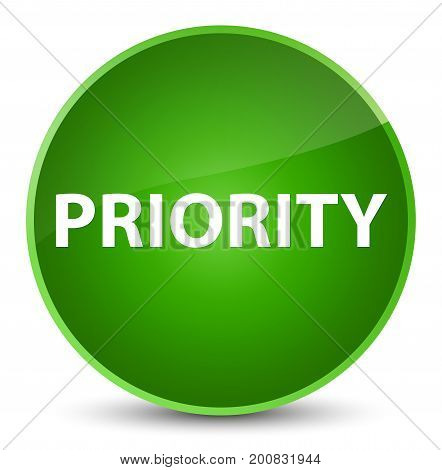 Priority Elegant Green Round Button