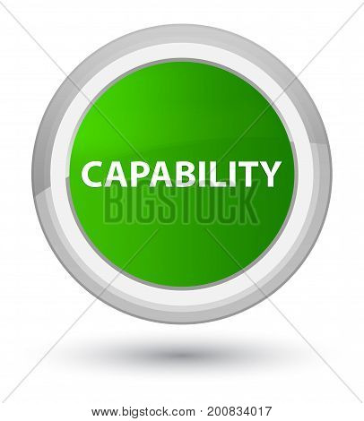 Capability Prime Green Round Button