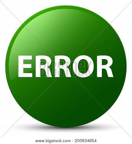 Error Green Round Button