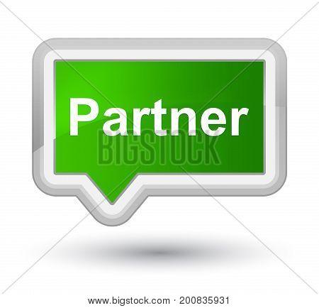 Partner Prime Green Banner Button