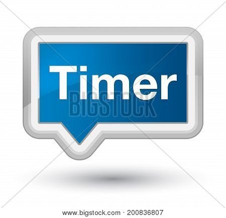 Timer Prime Blue Banner Button