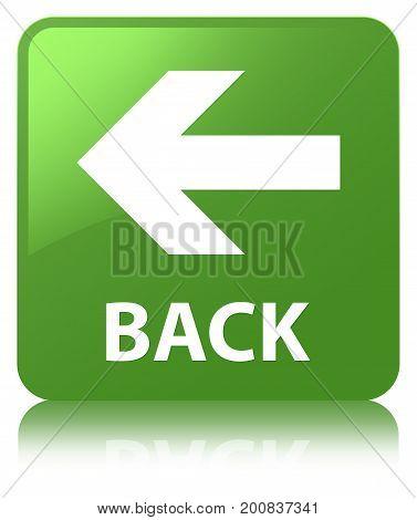 Back Soft Green Square Button