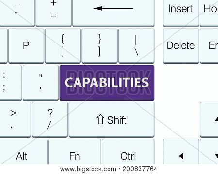 Capabilities Purple Keyboard Button