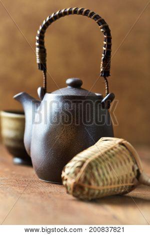 Traditional, ceramic tea pot