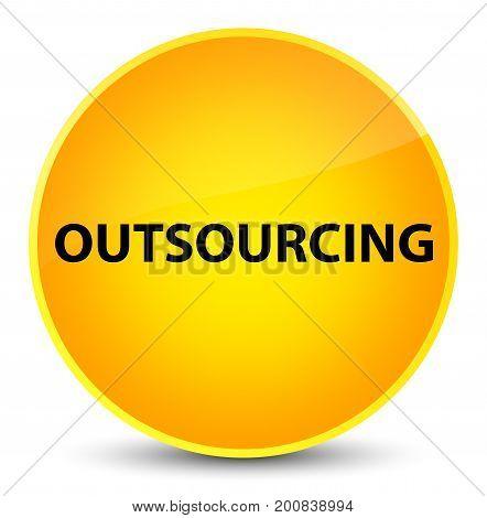 Outsourcing Elegant Yellow Round Button