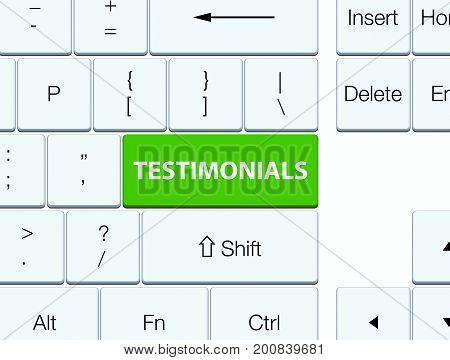 Testimonials Soft Green Keyboard Button
