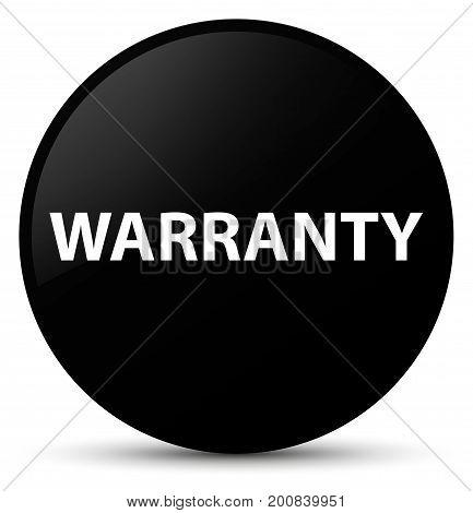 Warranty Black Round Button