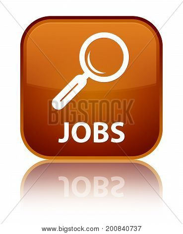 Jobs Special Brown Square Button