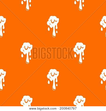 Dripping slime pattern repeat seamless in orange color for any design. Vector geometric illustration