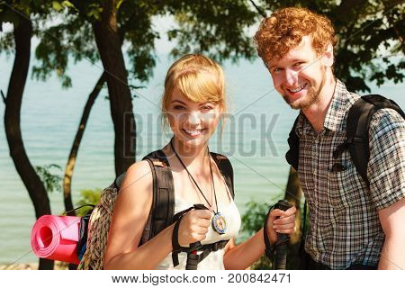 People Tourists Hiking Backpacking Outdoor.