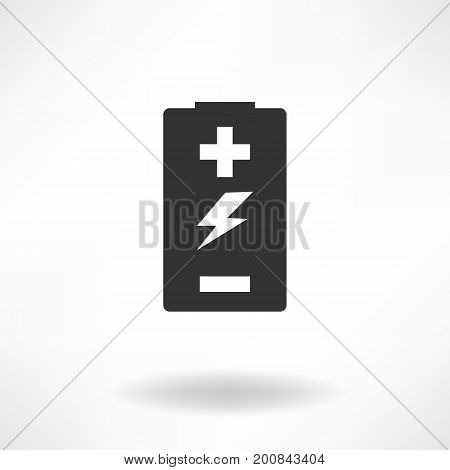 Battery Simple Vector Icon and Simple Background