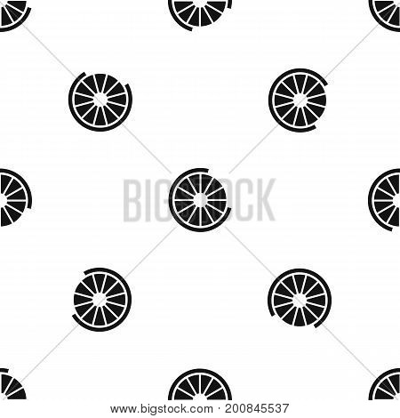 Sign incomplete download pattern repeat seamless in black color for any design. Vector geometric illustration