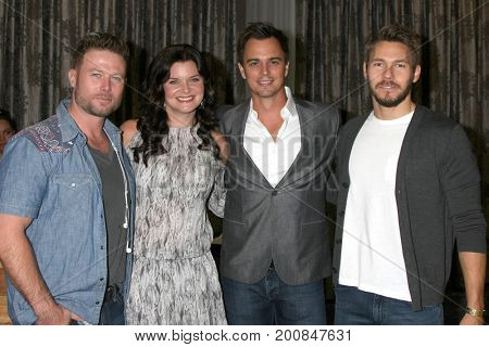 LOS ANGELES - AUG 20:  Jacob Young, Heather Tom, Darin Brooks, Scott Clifton at the Bold and the Beautiful Fan Event 2017 at the Marriott Burbank Convention Center on August 20, 2017 in Burbank, CA