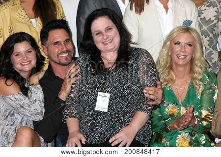 LOS ANGELES - AUG 20:  Heather Tom, Don Diamont, Cathy Tomas, Katherine Kelly Lang at the Bold and the Beautiful Event 2017 at the Marriott Burbank Convention Center on August 20, 2017 in Burbank, CA
