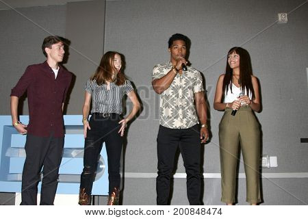 LOS ANGELES - AUG 20:  Anthony Turpel, Courtney Grosbeck, Rome Flynn, Reign Edwards at the Bold and the Beautifu Event 2017 at the Marriott Burbank Convention Center on August 20, 2017 in Burbank, CA