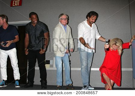 LOS ANGELES - AUG 20:  Lawrence Saint-Victor, Dick Christie, Thorston Kaye, Alley Mills at the BnB Event 2017 at the Marriott Burbank Convention Center on August 20, 2017 in Burbank, CA