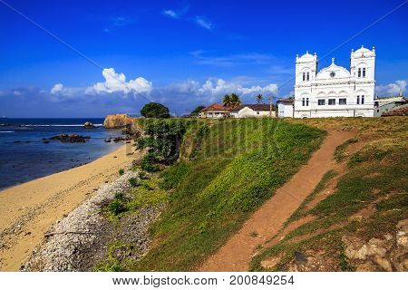 Ancient Church In Fort Gale At Sri Lanka