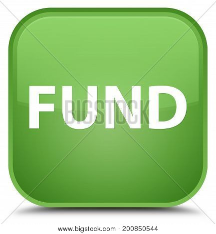 Fund Special Soft Green Square Button