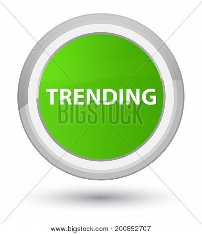 Trending Prime Soft Green Round Button