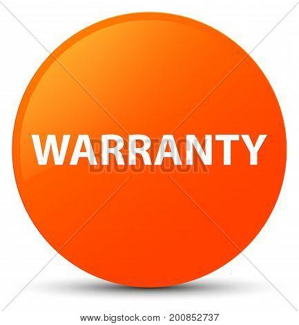 Warranty Orange Round Button