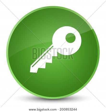 Key Icon Elegant Soft Green Round Button