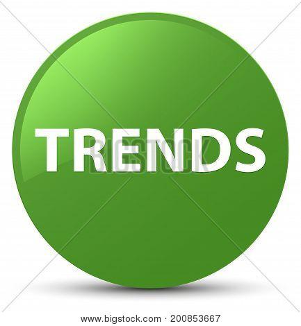 Trends Soft Green Round Button