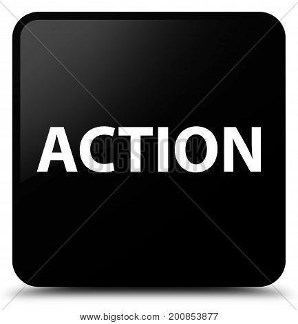 Action Black Square Button