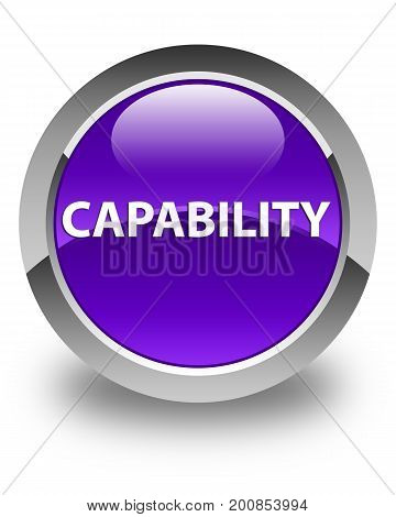 Capability Glossy Purple Round Button