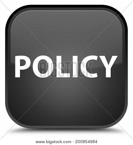 Policy Special Black Square Button