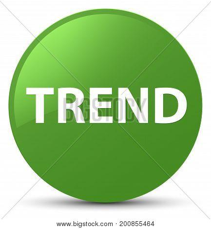 Trend Soft Green Round Button