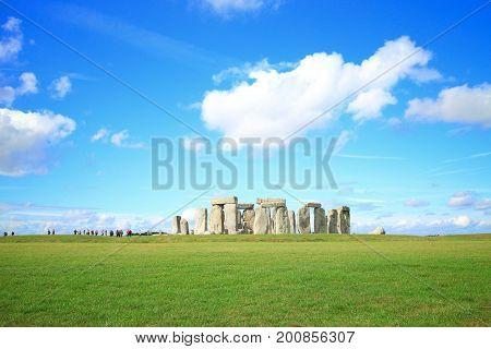 Stonehenge an ancient prehistoric stone monument near Salisbury