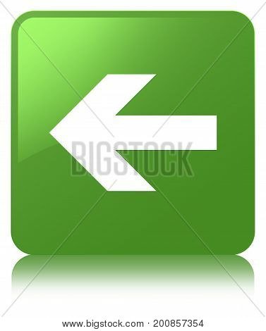 Back Arrow Icon Soft Green Square Button