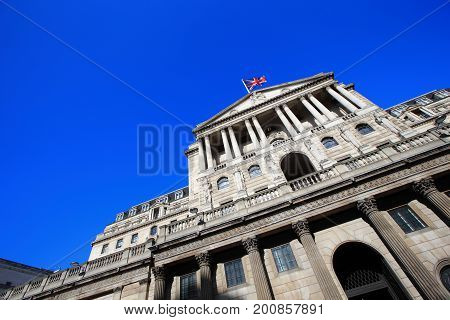 Bank of England for your travel concept