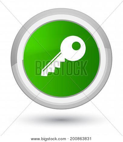 Key Icon Prime Green Round Button