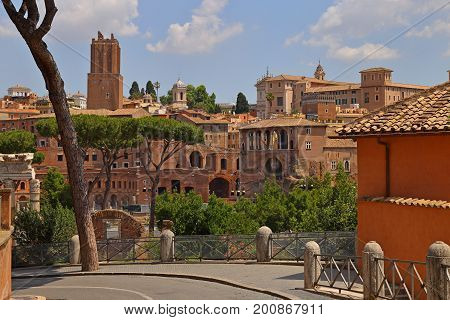 The Roman Forum, Italian Foro Romano in Rome, Italy.
