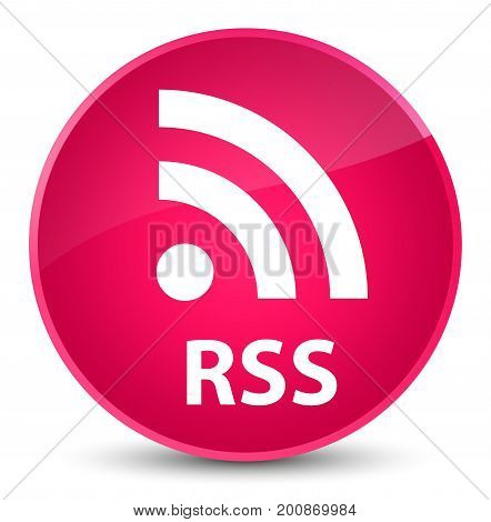 Rss Elegant Pink Round Button