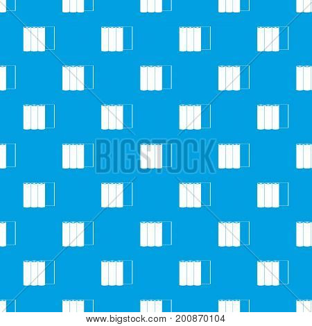 Rolls of paper pattern repeat seamless in blue color for any design. Vector geometric illustration