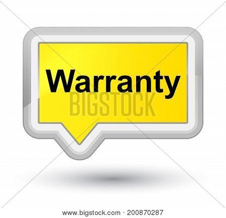 Warranty Prime Yellow Banner Button