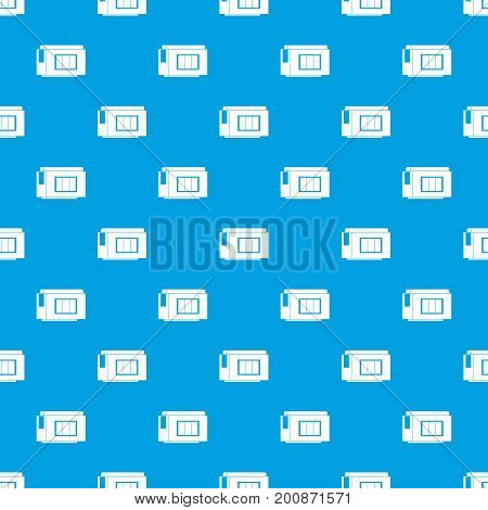 Inkjet printer cartridge pattern repeat seamless in blue color for any design. Vector geometric illustration