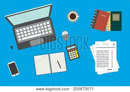 Analytic Research,tax Report On Paper Sheets