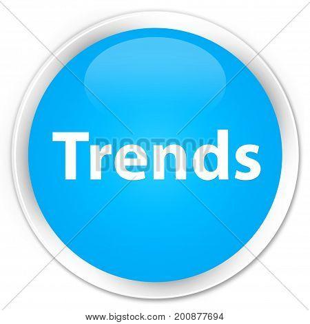 Trends Premium Cyan Blue Round Button