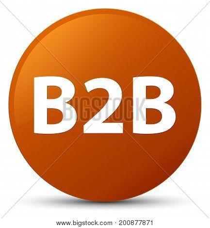 B2B Brown Round Button