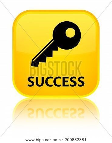 Success (key Icon) Special Yellow Square Button
