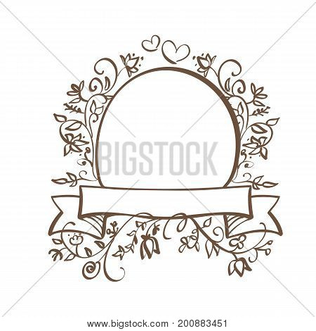 Decorative Frame and Borders Art with place for your text. Calligraphy lettering Vector illustration EPS10.
