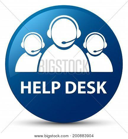 Help Desk (customer Care Team Icon) Blue Round Button