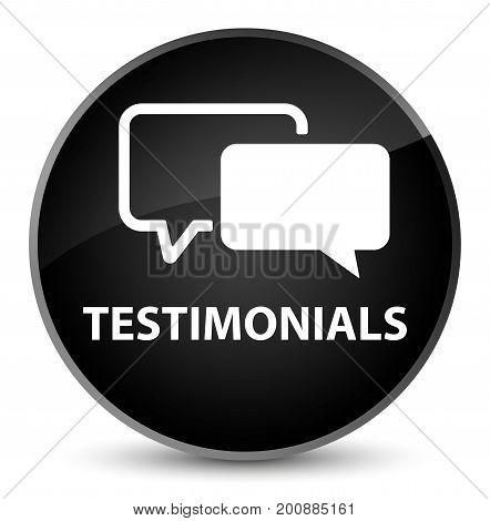 Testimonials Elegant Black Round Button