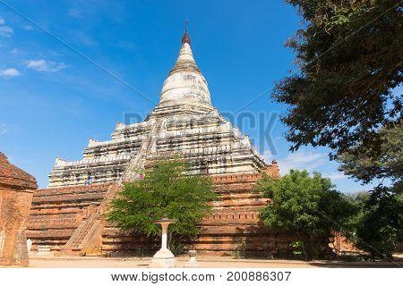 Shwesandaw pagoda temple in Bagan, Mandalay,  Myanmar